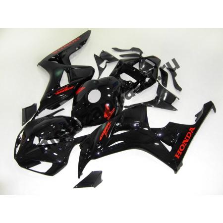 Комплект пластика Honda CBR1000RR 2006-2007 Черный глянец-красные наклейки