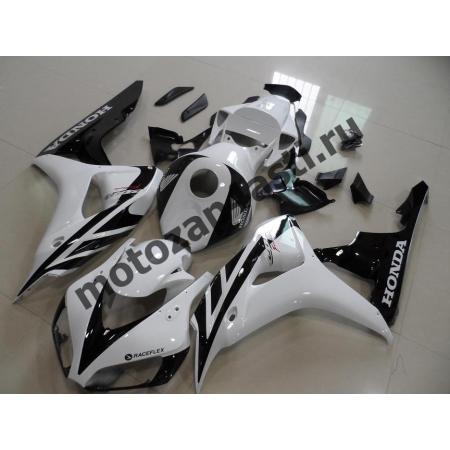 Комплект пластика Honda CBR1000RR 2006-2007 Бело-Черный-1.