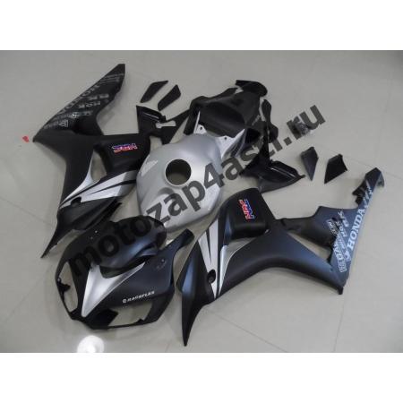 Комплект мотопластика Honda CBR1000RR 2006-2007 Серо-черный.