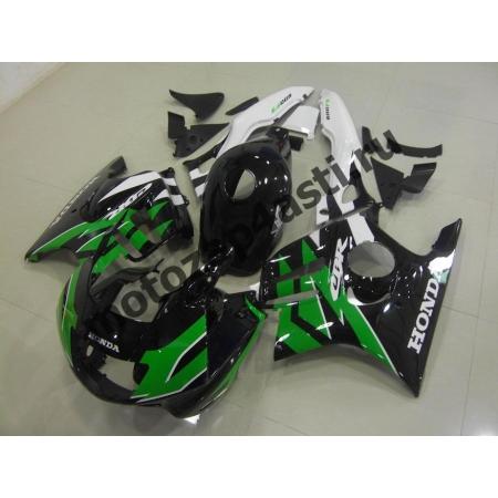Комплект мотопластика Honda CBR600F3 95-98 Зелено-Бело-Черный.