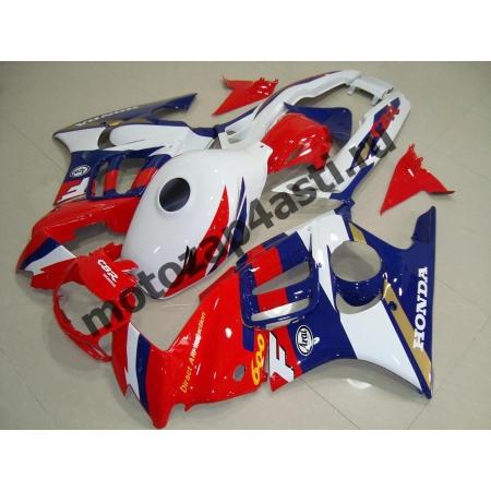Комплект мотопластика Honda CBR600F3 95-98 Стоковый бело-сине-красный.
