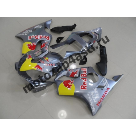 Комплект пластика для мотоцикла Honda CBR600 F4i 01-07 Redbull Серебро.
