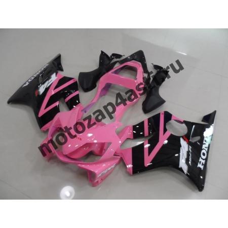 Комплект пластика для мотоцикла Honda CBR600 F4i 01-07 Розово-черный.