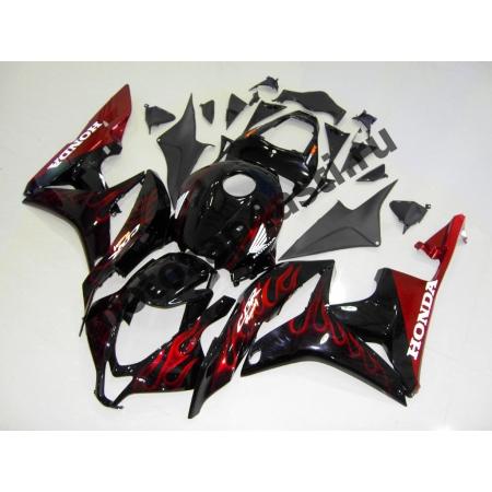 Комплект Мотопластика Honda CBR600rr 09-12 Черный с Огнем.