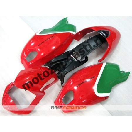 Комплект пластика DUCATI 696 797 1100 1100S Красно-зеленый.