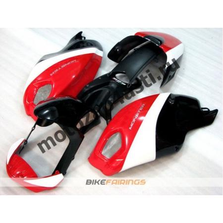 Комплект пластика DUCATI 696 797 1100 1100S Черно-бело-красный-3.