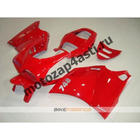Комплект пластика DUCATI 748 916 996  Красный-2.