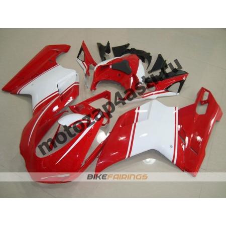 Комплект пластика DUCATI 848 1098 1198 Бело-Красный.