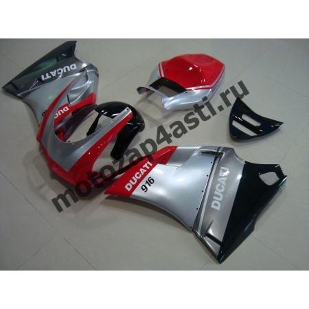 Комплект пластика DUCATI 748 916 996 Штатный Серо-Черно-Красный.