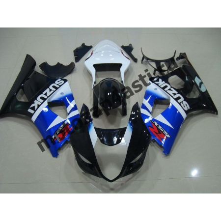 Комплекты пластика Suzuki GSXR1000 03-04 Штатный Бело-Сине-Черный.