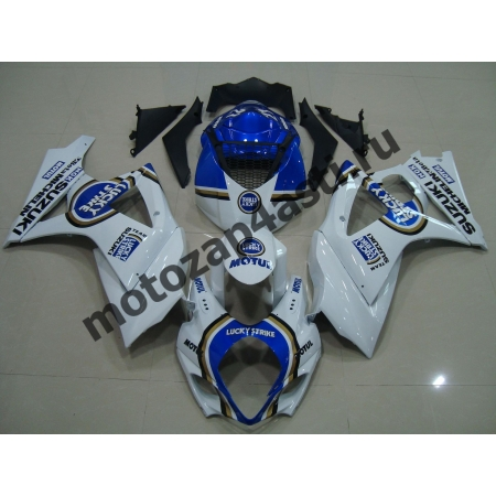 Комплекты пластика Suzuki GSXR1000 07-08 Lucky Strike Бело-Синий.