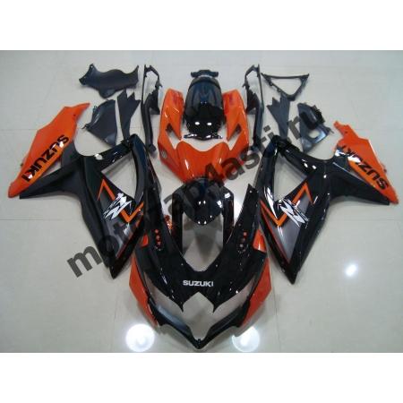 Комплекты пластика Suzuki GSXR600-750 06-07 Оранжево-Черный-1.