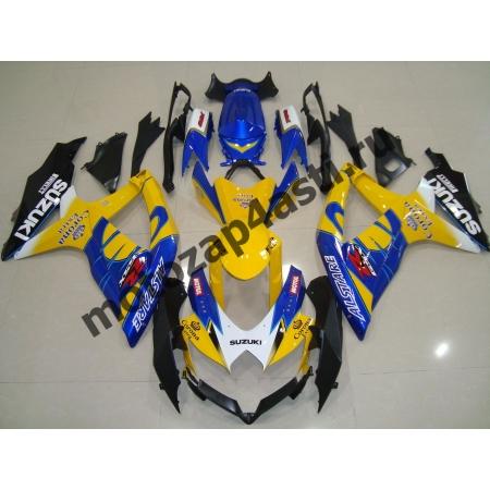 Комплекты пластика Suzuki GSXR600-750 08-09 Corona Extra Желто-сине-черный.