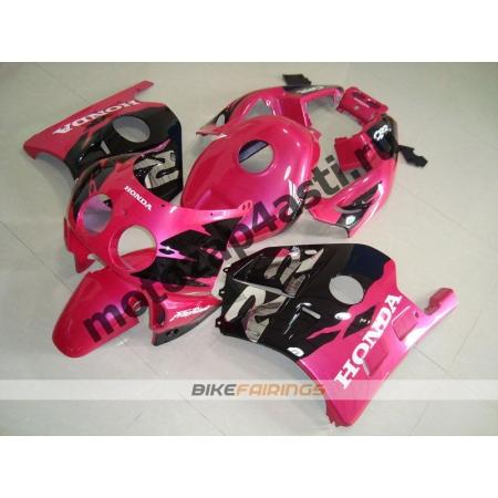 Комплект Мотопластика Honda CBR250 MC22 Черно-Розовый.