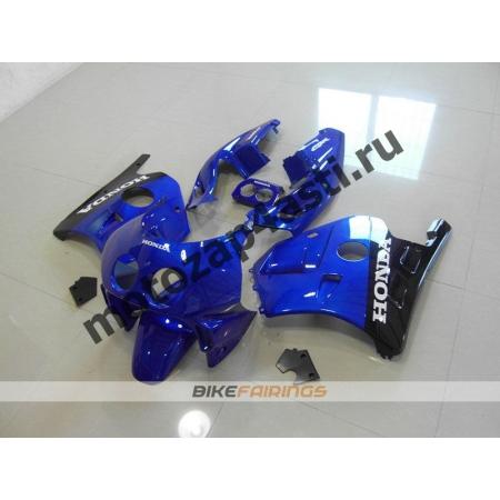 Комплект Мотопластика Honda CBR250 MC22 Черно-Синий-2.