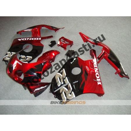 Комплект Мотопластика Honda CBR250 MC22 Черно-Красный-1.