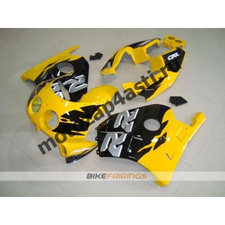 Комплект Мотопластика Honda CBR250 MC22 Черно-Желтый-1.