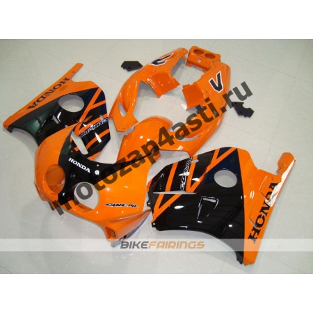 Комплект Мотопластика Honda CBR250 MC22 Черно-Оранжевый.