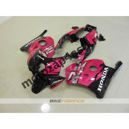 Комплект Мотопластика Honda CBR250 MC22 Черно-Розовый-2.