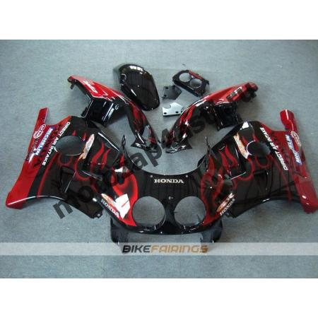 Комплект Мотопластика Honda CBR250 MC22 Черный с красным огнем.