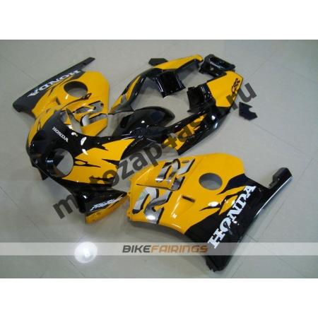 Комплект Мотопластика Honda CBR250 MC22 Черно-Желтый-2.
