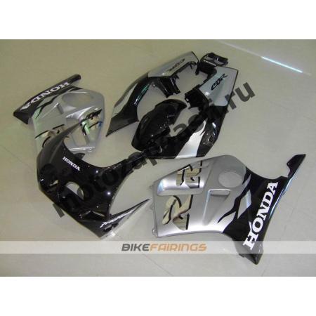Комплект Мотопластика Honda CBR250 MC19 Черно-Серебристый.