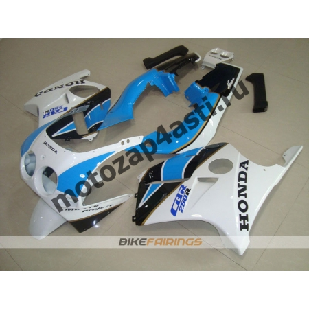 Комплект Мотопластика Honda CBR250 MC19 Бело-Черно-Голубой.