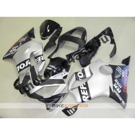 Комплект пластика для мотоцикла Honda CBR600 F4i 01-07 Черно-Серый-2.