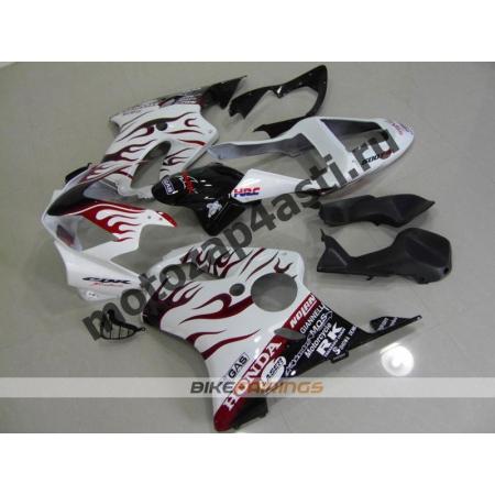 Комплект пластика для мотоцикла Honda CBR600 F4i 01-07 Белое пламя.