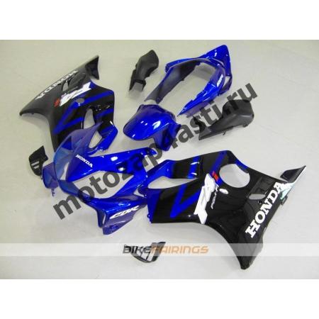Комплект пластика для мотоцикла Honda CBR600 F4i 01-07 Сине-Черный.