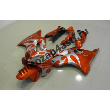 Комплект пластика для мотоцикла Honda CBR600 F4i 01-07 Серо-оранжевый.