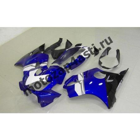 Комплект пластика для мотоцикла Honda CBR600 F4i 01-07 Бело-синий-2.