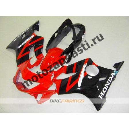 Комплект пластика Honda CBR600F4 98-00 Штатный Красно-черный.
