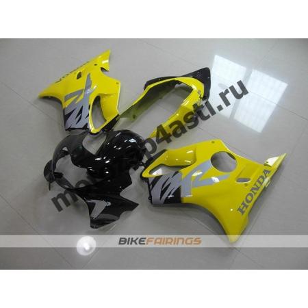 Комплект пластика Honda CBR600F4 98-00 Черно-Желтый.