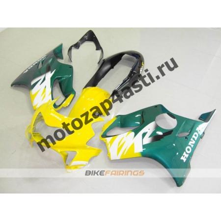 Комплект пластика Honda CBR600F4 98-00 Зелено-Желтый.