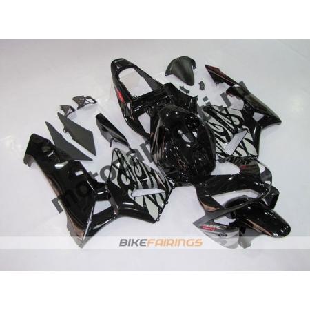 Комплект Мотопластика Honda CBR600RR 03-04 Черное пламя.