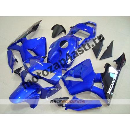 Комплект Мотопластика Honda CBR600RR 03-04 Сине-Черный.