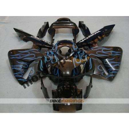 Комплект Мотопластика Honda CBR600RR 03-04 Синее пламя.