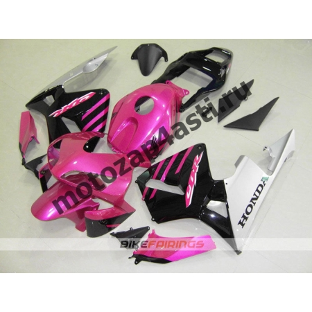 Комплект Мотопластика Honda CBR600RR 03-04 Розово-Черный.