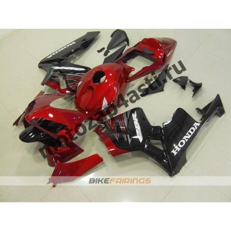 Комплект Мотопластика Honda CBR600RR 03-04 Красно-черный -3.