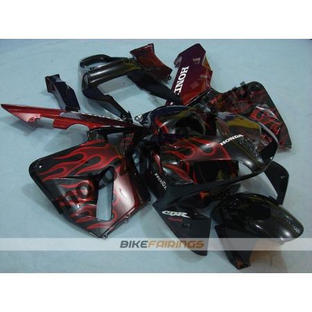 Комплект Мотопластика Honda CBR600RR 03-04 Красное пламя.