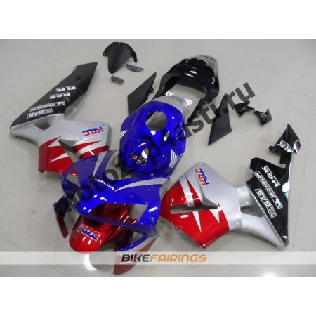 Комплект Мотопластика Honda CBR600RR 03-04 Красно-Сине-Серый-2.
