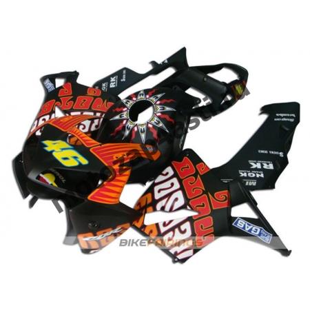 Комплект Мотопластика Honda CBR600RR 05-06 Черный V.Rossi.