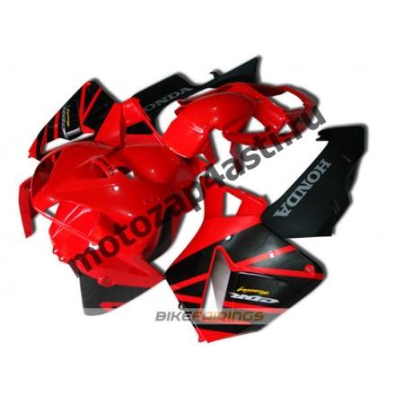Комплект Мотопластика Honda CBR600RR 05-06 Красно-Черный-2.