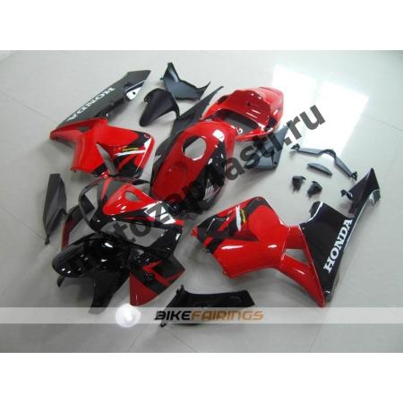 Комплект Мотопластика Honda CBR600RR 05-06 Красно-Черный-3.