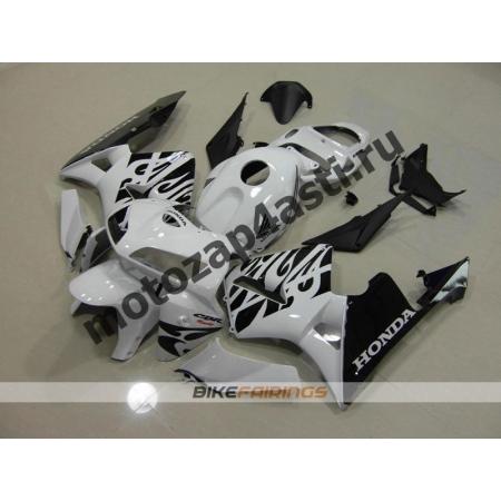Комплект Мотопластика Honda CBR600RR 05-06 Бело-Черный-1.