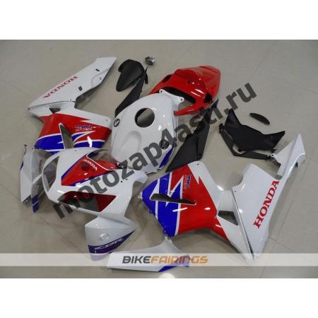 Комплект Мотопластика Honda CBR600RR 05-06 Бело-красно-синий-3.