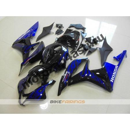 Комплект Мотопластика Honda CBR600RR 07-08 Черный глянцевый с синим огнем.