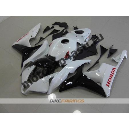 Комплект Мотопластика Honda CBR600rr 07-08 Бело-черный.