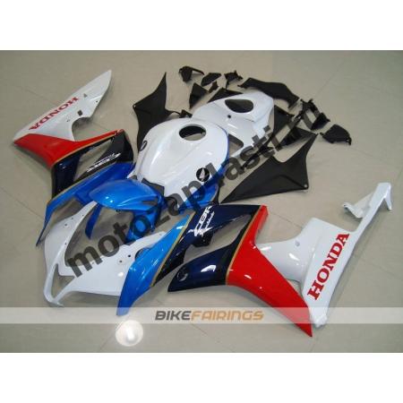 Комплект Мотопластика Honda CBR600rr 07-08 Сине-красно-бело-черный.